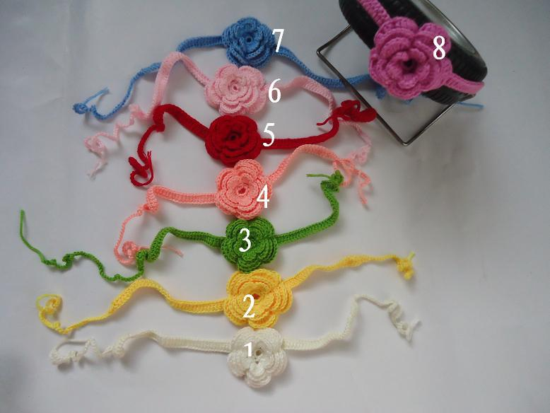 DIY crochet Children's hair band headband blasting with baby Knitting the infant flower hair accessories handwoven headdress(China (Mainland))