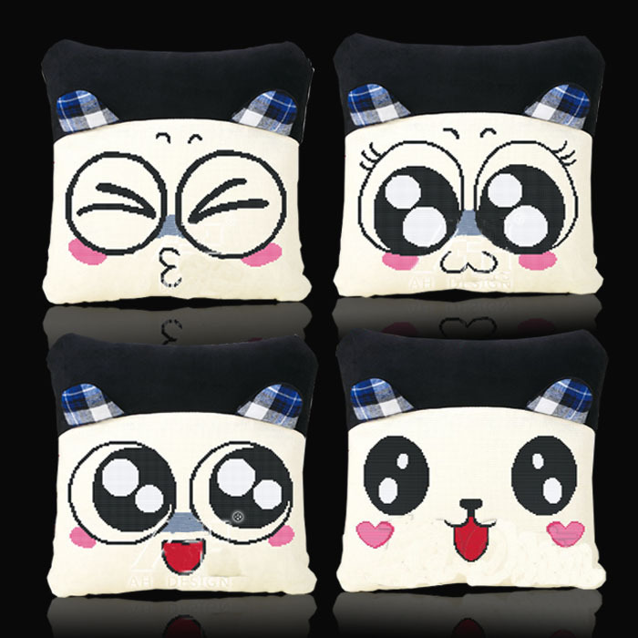 Cross stitch pillow one pair of cartoon lovers pillow accurate printing simple cute car cushions containing Pillow 175(China (Mainland))