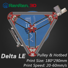 3 D Cheap Delta 3D Printer LE Auto Level  K800 Kossel Mini Reprap Prusa Rostock 3D-Printer Machine Kit With Hot Bed Injection
