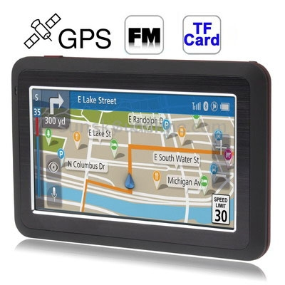 GPS-навигатор 4,3/gps 4 , TF , Bluetooth, FM junsun 7 inch hd car gps navigation with fm bluetooth avin multi languages europe sat nav truck car gps navigator with free maps