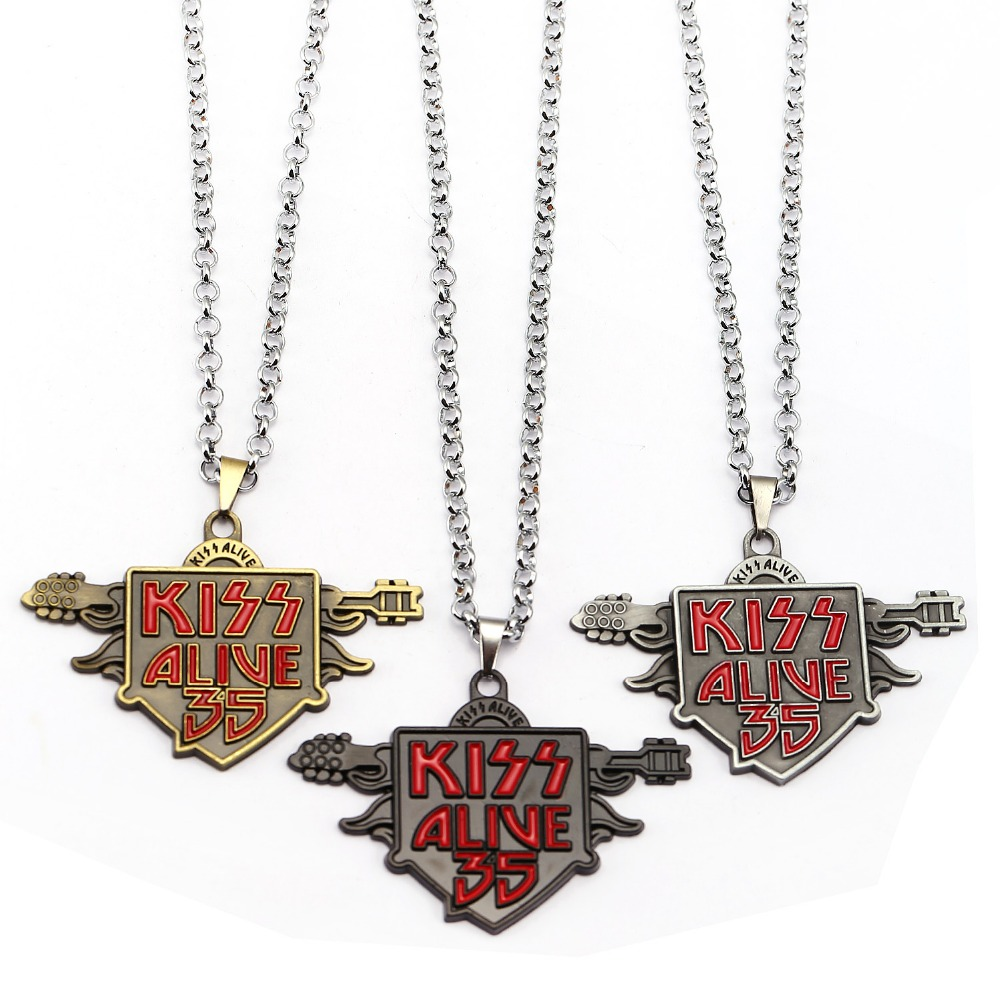 Music band Kiss keychain for car Kiss Alive 35 name of albums key holder pendant accessories Key Ring wholesale price(China (Mainland))