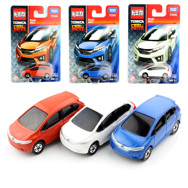 3pcs Tomy mini scale tomica Handa Jazz baby diecast auto cheap models cars toys machines durable collectile for children 2017(China (Mainland))