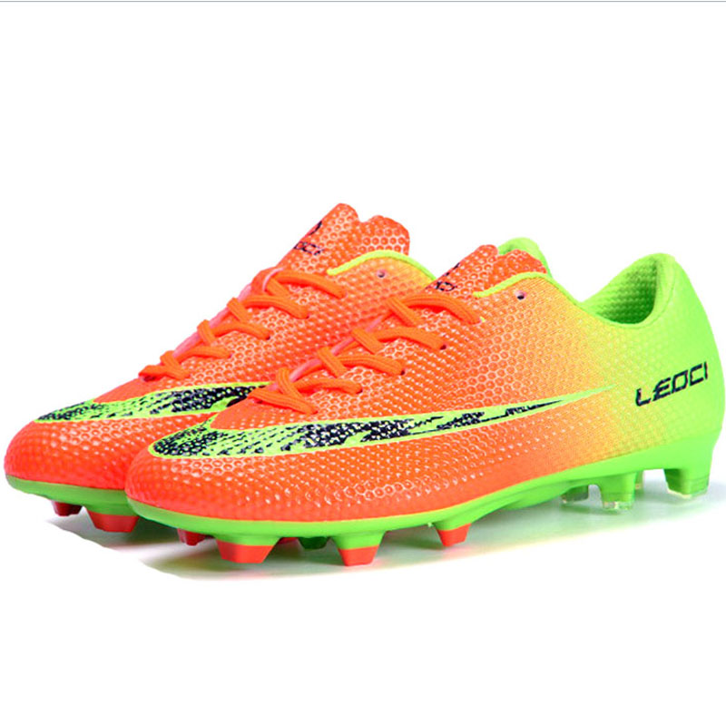 2016 new Boy Kids Men <font><b>Soccer</b></font> Cleats Boots Turf Football <font><b>Soccer</b></font> <font><b>Shoes</b></font> Hard Court Outdoor Sneakers Trainers Adults Sport <font><b>Shoes</b></font>