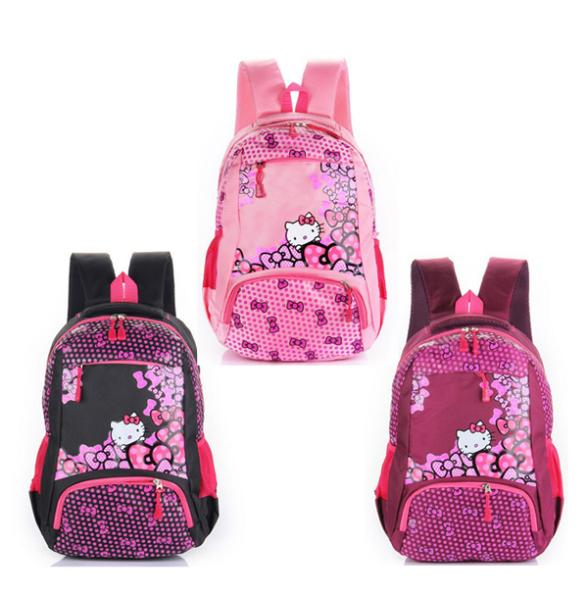 Hello Kitty Children Bag Student Girls School Backpack Cute Cartoon Kids Child Shoulder Bags Large Capacity Shoolbag(China (Mainland))