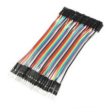 Dupont Line 10CM Male To Female Dupont Line Male-Female Dupont Cable Jumper Wire Ribbon Cable for Arduino 40pcs (China (Mainland))