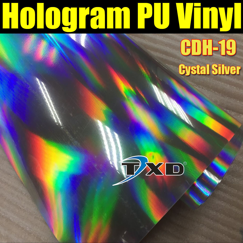 High quality hologram pu vinyl for heat transfer with size: 50CMX100CM, transfer hologram pu film for fabric by free shipping(China (Mainland))