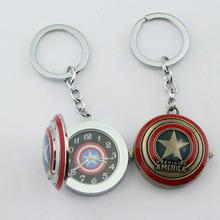 Fashion Jewelry Wholesale a lot Captain America Pocket Watch Pendant Keychain