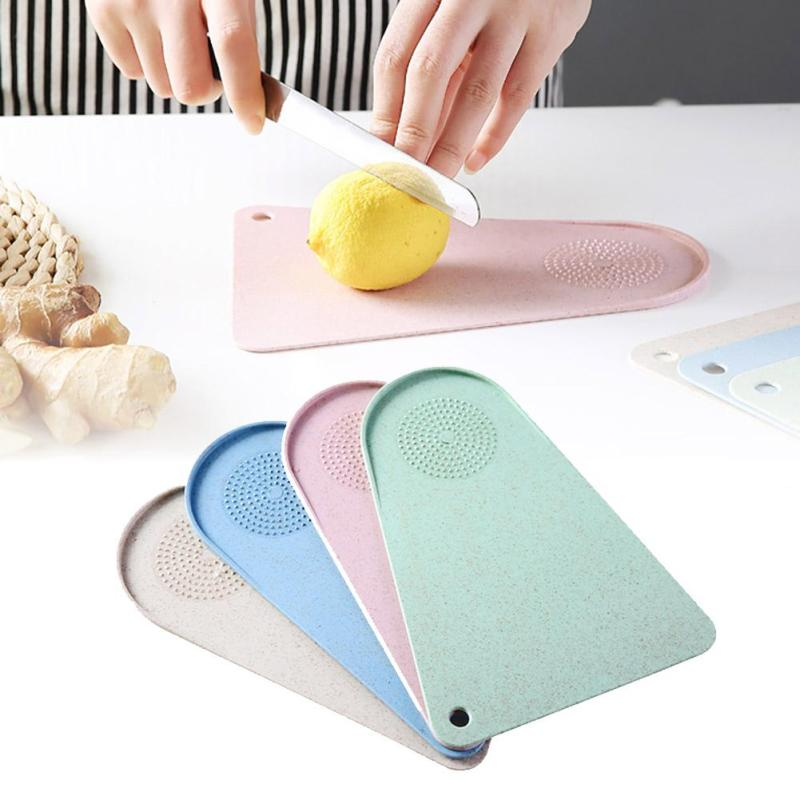 Ordinary Kitchen Glass Cutting Boards Decorative #5: Chopping Block Mini Antibacterial Cutting Board Vegetable Tool Grinding  Ginger Garlic Clodboard Hanging Empty Health Panel