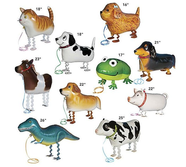 Walking pet balloon dog cat frog cow pig mixed designs classic toy Free shipping 90pcs/lot