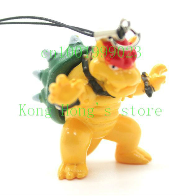 Lot 8 PCS lovely mario Cell Mobile Phone charms straps key chain Free Shipping(China (Mainland))