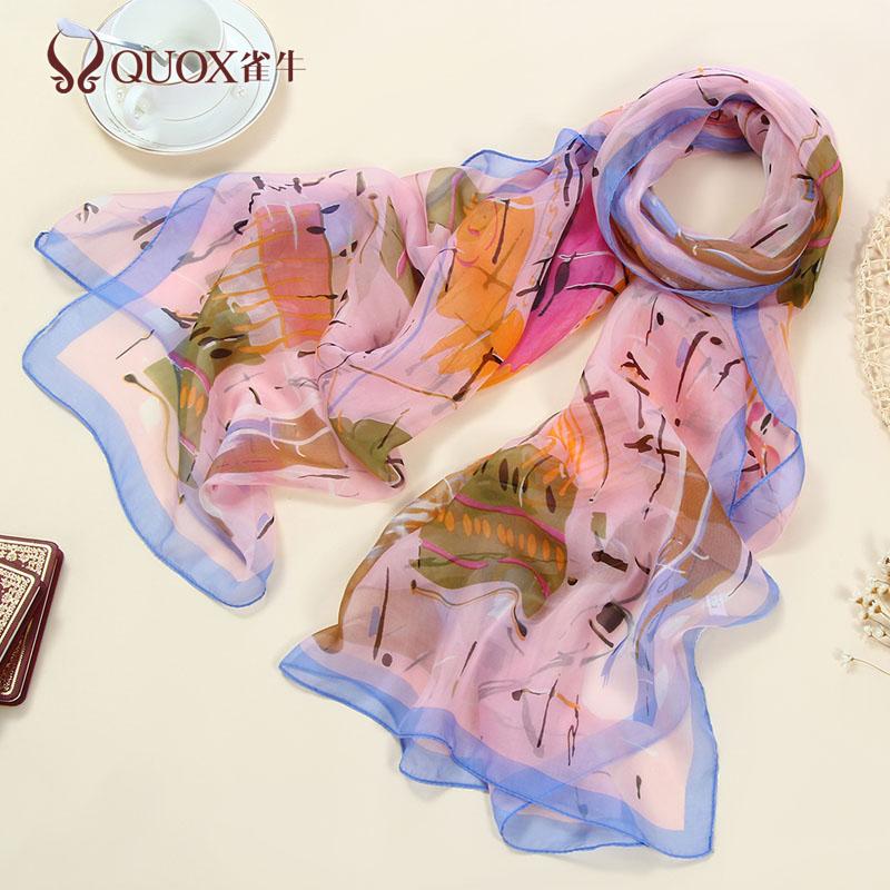 Fashion women printing silk scarf summer beach silk scaves 100% mulberry silk shawl wrap(China (Mainland))