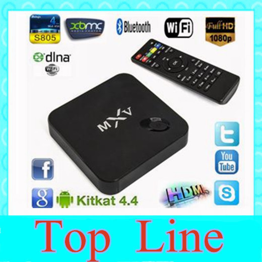 MXV S805 Quad Core Android TV BOX 1G/8G Cortex 1.5GHZ Android 4.4 Xbmc WIFI Bluetooth H.265 smart Media Player(China (Mainland))
