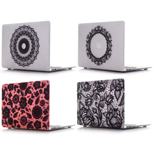 Print lace pattern Hard Case for apple Macbook Air Pro 11 12 13 15 Retina Matte Protective PVC Cover Case