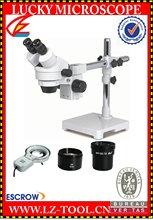 Envío gratis 10.5X – 135X + 8 W luz fluorescente del anillo digital microscopio binocular. microscopio estéreo. olympus microscopios