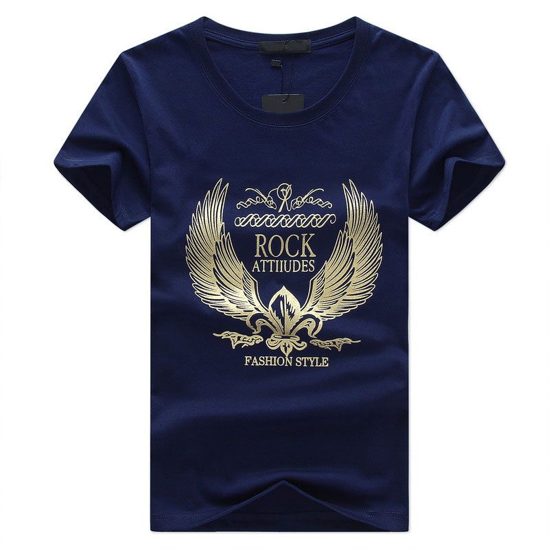 E-BAIHUI Brand 100% Cotton men Clothing Male Slim Fit t shirt Man T-shirts Casual T-Shirts Skateboard Swag mens tops tees()