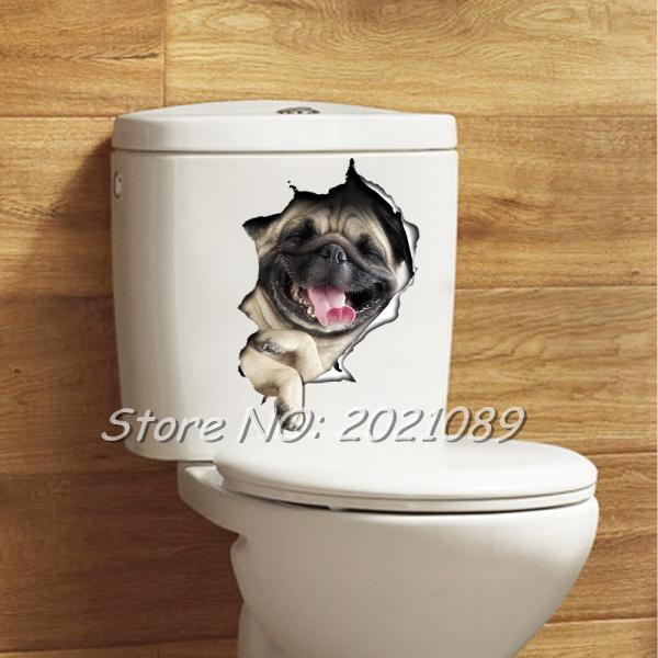 Promoción de cuarto de baño de pared de vinilo   compra ...