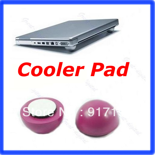 2sets/lot Laptop Notebook Antiskid Cooling Cooler Stand Ball Leg Skidproof Pad Hot Pink(China (Mainland))