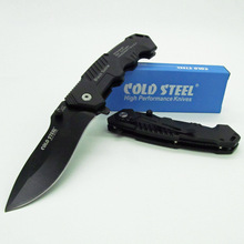 COLD STEEL HY217 Hunting Pocket Knife Tactical Folding Knives Blade Sanding Black Aluminum Handle  HY 217