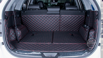 Good mats! Special trunk mats for KIA Sorento 7seats 2013 durable waterproof leather luggage mats for Sorento 2014,Free shipping
