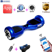 Buy 2 wheel 6.5 inch Smart electric scooter APP self balance electric skateboard standing drift electric unicycle hoverboard for $186.20 in AliExpress store