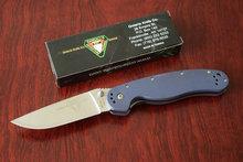 La gota alta calidad OEM Ontario RAT18868 verde táctico plegable cuchillos de bolsillo que acampa cuchillo G10 manejar herramientas manos