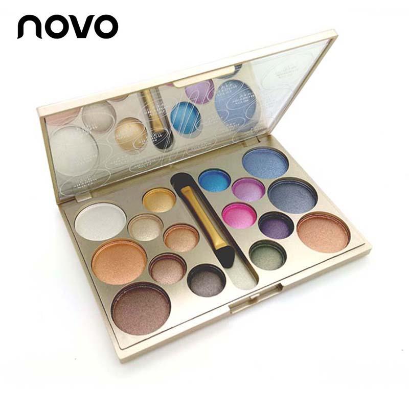 16 Colors Waterproof Diamond Eyeshadow Palette Make Eye Shadows Glitter & Matte Nude sombra Makeup Set Brush - Inhotby Store store
