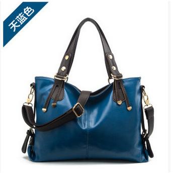 2015 new trend of leather handbag brand ms single shoulder hand bag leather handbag(China (Mainland))