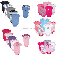 Luvable Friends 5 Pieces lot Newly Cotton Baby Rompers Toddler Jumpsuit Carters Baby Girls Boys Newborn