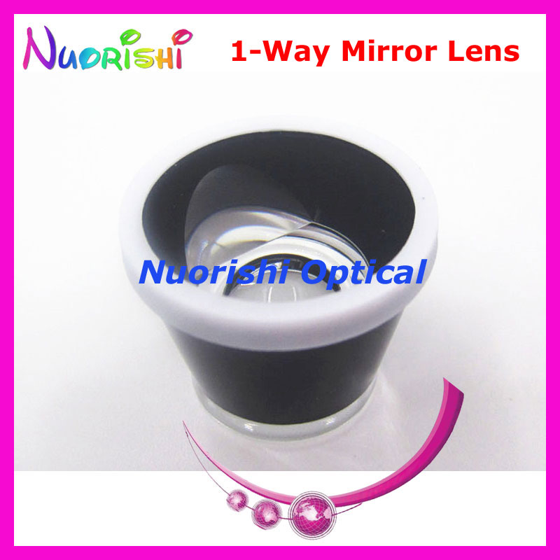 SL14 Ophthalmic Single 1 Way Mirror Goldman Fundus Slit Lamp Contact Lens Black Leather Metal Case Packed Free Shipping