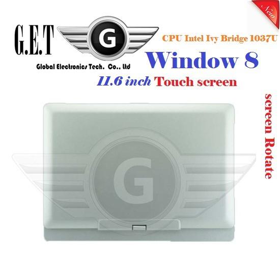 "11.6"" Win8 Laptop Computer Rotating Screen Touch screen Intel Celeron 1037U 1.8GHz Dual-core Camera 2.0M HDMI (R116 Celeron)(China (Mainland))"