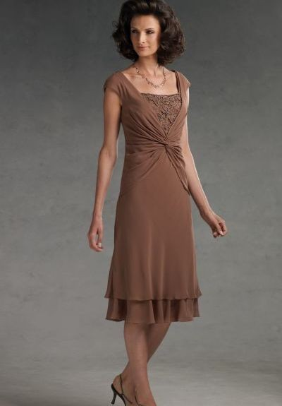 Online Get Cheap Dress for Mother of The Groom Tea Length ...