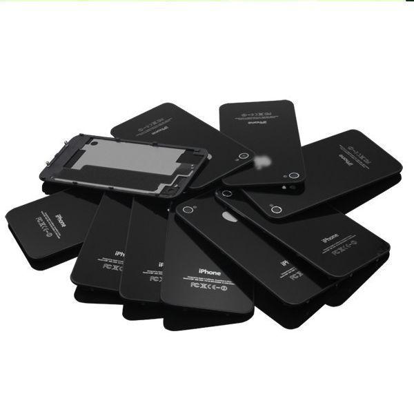 Чехол SJK01 стекло, черный GSM для iPhone 4 4 G / 4S совместимый задняя часть дверь зад панель плита корпуса замена