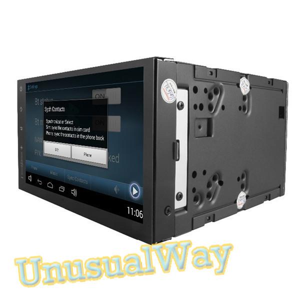 Free Shipping 1024x600 HD Pure Android 4 4 Auto Radio Universal Car Stereo GPS Navigation 2G