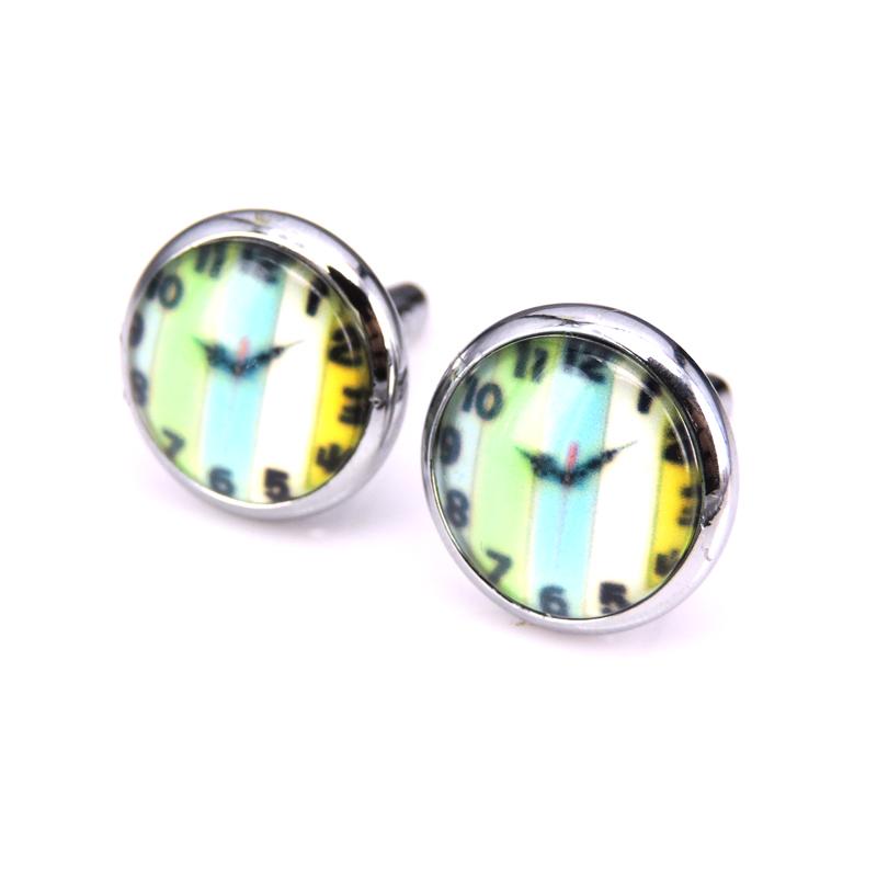 Time movie master enamel watch cufflinks, men's fashion design cufflinks fittings crystal custom time(China (Mainland))