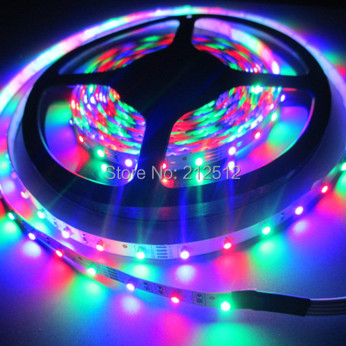 5m/roll 12v 3528 SMD 18W non-waterproof 300leds Flexible rgb Led Strip Lights Christmas Party Decoration Led Lights For Home(China (Mainland))