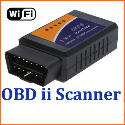 Free Shipping Wi-Fi wifi ELM 327 ELM327 OBD 2 II Car Diagnostic Interface Scanner Cheap Price D001(China (Mainland))