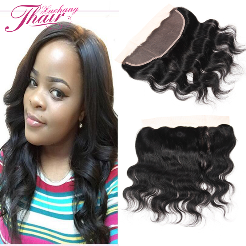 Grade 7A Brazilian Virgin Hair Body Wave Full Lace Frontal Closure Free Part 13x4inch Lace Frontals With Baby Hair Ear To Ear <br><br>Aliexpress