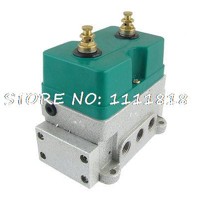 8mm 1/4 Bore 3 Position 5 Way Pneumatic Solenoid Valve AC 220V 70mA Nsobd<br>
