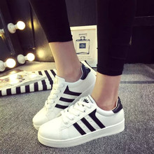 Classic women girl casual shoes brand breathable cool leather flat trainers  Zapatillas mujers chaussures femmes