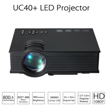 Original Korean UNIC UC40+ LED Mini Pico Projector 800 lumens Home Cinema Business HDMI AV SD For Theater beamer proyector(China (Mainland))