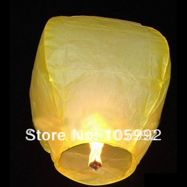 Sky Lanterns,Wishing Lantern fire balloon Chinese Kongming lantern Wishing Lamp high quality more color(China (Mainland))