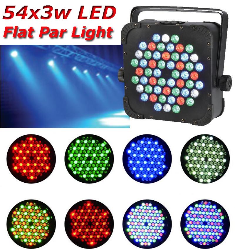 EYOURLIFE HOT DJ EQUIPMENT 54x3w RGB PAR 64 108watt DMX FLAT LIGHT LED STAGE PAR LIGHT FREE SHIPPING(China (Mainland))
