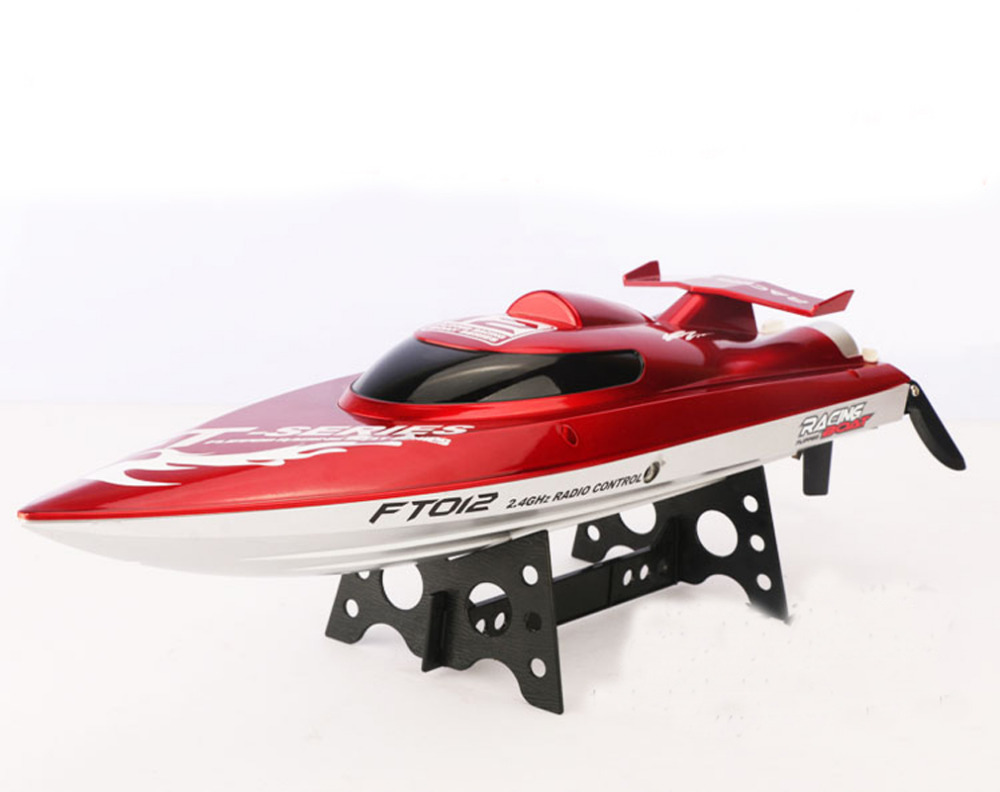 New FT012 2.4G Brushless RC Racing Boat RTR Speedboat Upgraded FT009 Red F15277(China (Mainland))