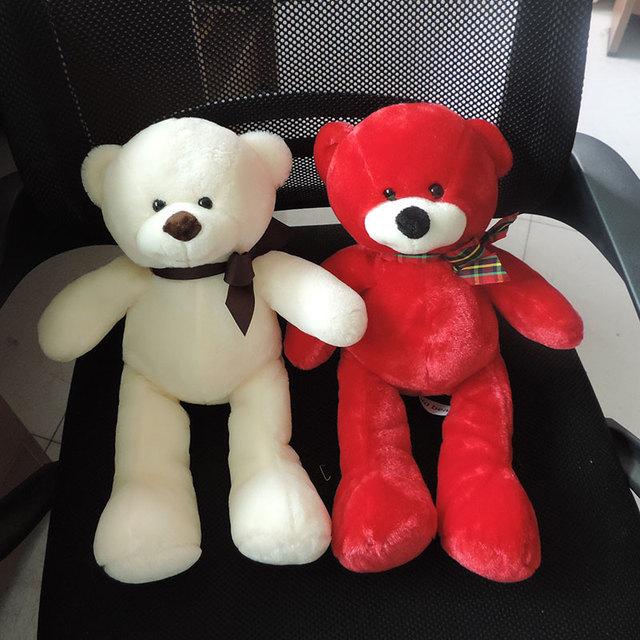(1 Шт.) 38 СМ Элегантный Плюшевые Медведи, Плюшевые Игрушки Мягкие Комфорт Сна Куклы для Детей Девушки Детей Подарки Красный Зеленый Медведь