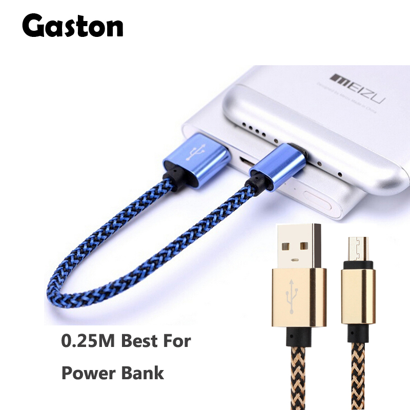 Micro USB Cable 25cm / 0.8ft Short Nylon Braided Cord Sync & Charging Cables for samsung galaxy S7 S6 Power Bank Android Phone 5(China (Mainland))