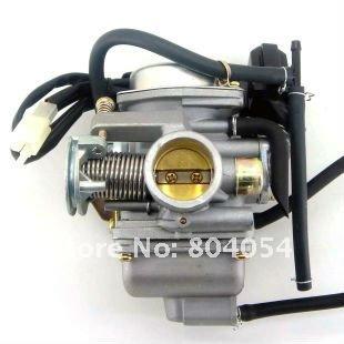 KUNFU Carburetor 24mm for GY6 125cc 150cc ATV, Go Kart, Moped & Scooter