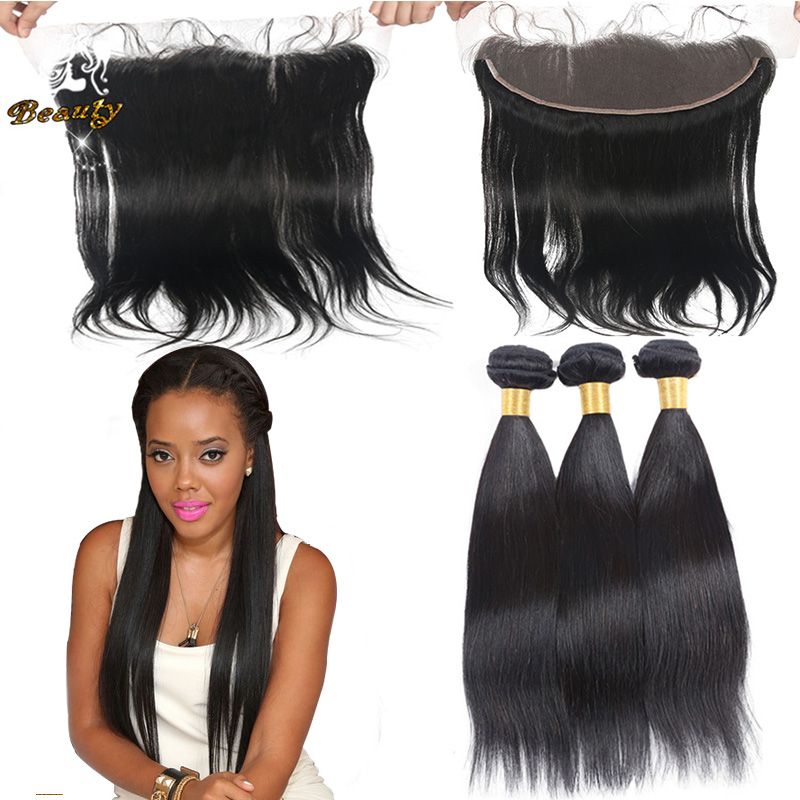 13x4 Lace Frontal Closure With Bundles,Brazilian Straight Lace Frontal And Bundle Hair,7a Virgin Hair With Frontal DHL Freeship<br><br>Aliexpress