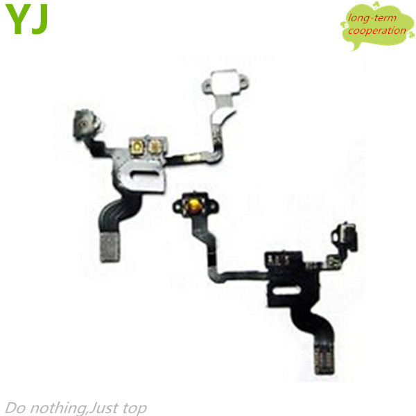 Free shipping Proximity Light Sensor Power Button Flex Cable Parts for iPhone 4 4G(China (Mainland))