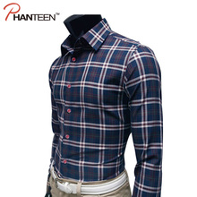 Classic Style Plaid High Quality Male Shirts Business Casual Man Slim Dress Shirt Autumn Long Sleeve Formal Shirt 19 Colors