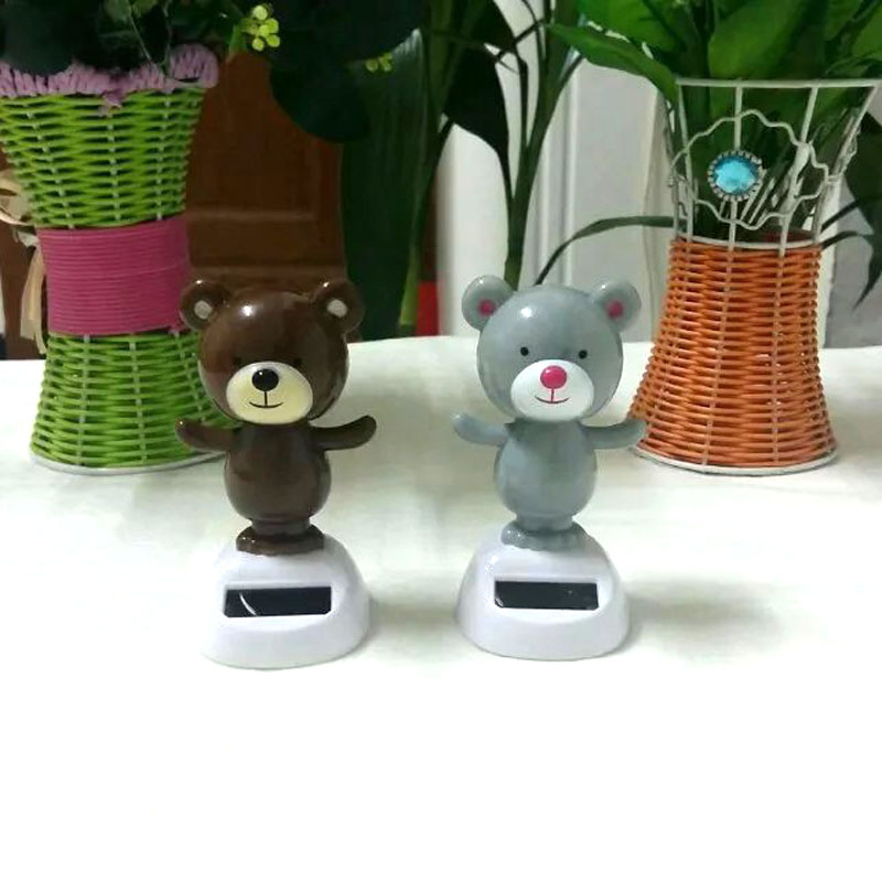Free Shipping Retail Package Swing Under Full Light No Battery Solar Powered Energy Gifts Novelty Toys Solar Dancing Bear(China (Mainland))